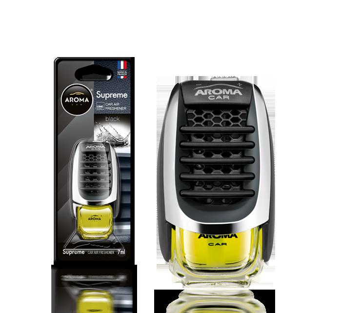 Ароматизатор на дефлектор жидкий Car Supreme Black, Aroma