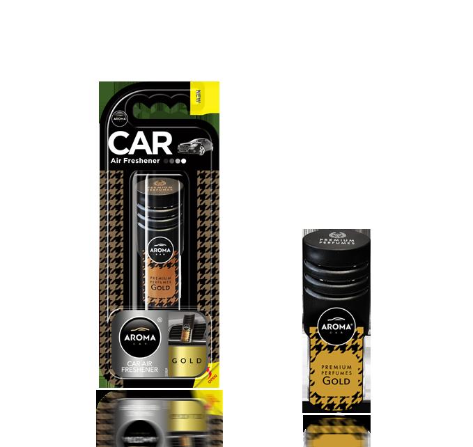 Ароматизатор на дефлектор гелевый Car Prestige Vent Gold, Aroma