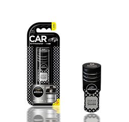 Ароматизатор на дефлектор гелиевый Car Prestige Vent Silver, Aroma