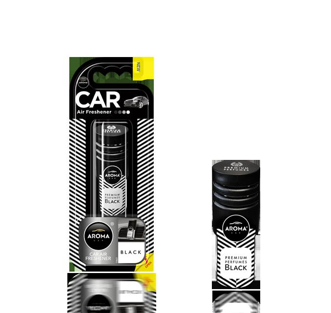 Ароматизатор на дефлектор гелиевый Car Prestige Vent Black, Aroma