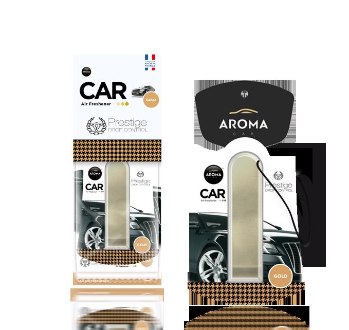 Ароматизатор подвесной жидкий Car Prestige Drop Control Gold, Aroma