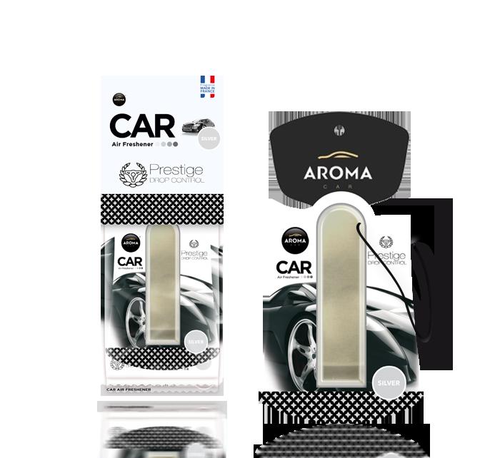 Ароматизатор подвесной жидкий Car Prestige Drop Control Silver, Aroma