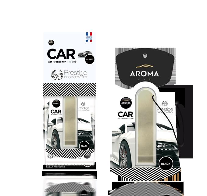 Ароматизатор подвесной жидкий Car Prestige Drop Control Black, Aroma