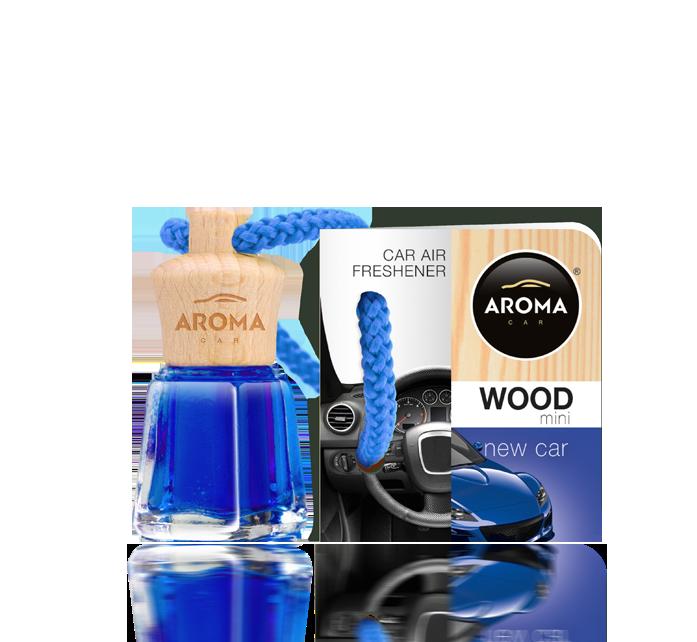 Ароматизатор подвесной жидкий Wood-Mini Daniela New Car, Aroma, 4 ml