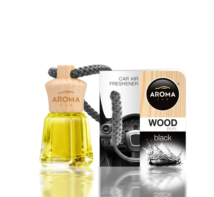 Ароматизатор подвесной жидкий Wood-Mini Daniela Black, Aroma, 4 ml