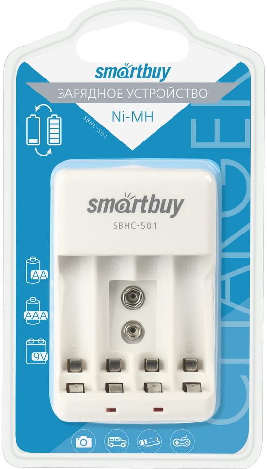 ЗУ для аккумуляторных батареек AA/AAA/9V Smartbuy SBHC-501/80 -4 порта