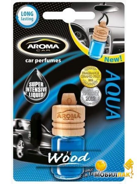 Ароматизатор подвесной жидкий Wood Aqua, Aroma, 6 ml