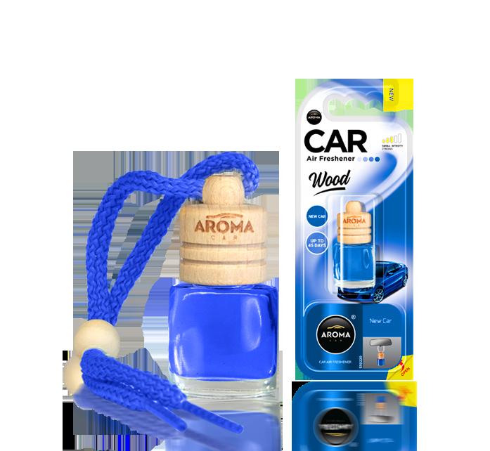 Ароматизатор подвесной жидкий Wood New Car, Aroma, 6 ml