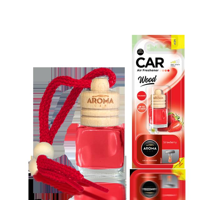 Ароматизатор подвесной жидкий Wood Strawberry & Blackberry, Aroma