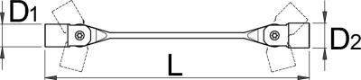 Ключ торцевой с шарнирными головками с внутренним профилем TX - 202/1TX UNIOR - фото 2