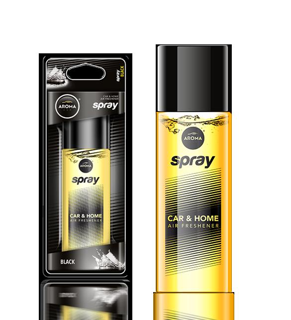 Ароматизатор спрей Pump Spray Car Perfume Black, Aroma