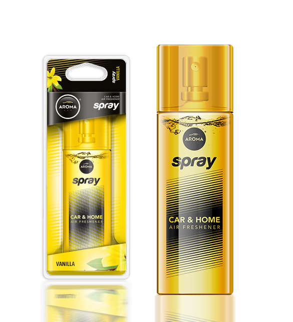 Ароматизатор спрей Pump Spray Car Perfume Vanilla, Aroma