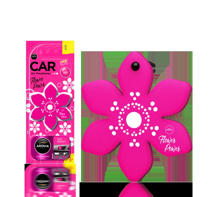 Ароматизатор подвесной листик POLIMERS Flower Pink Blossom(14) Aroma