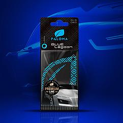 Ароматизатор подвесной листик Premium Paper Blue lagoon(80) Paloma