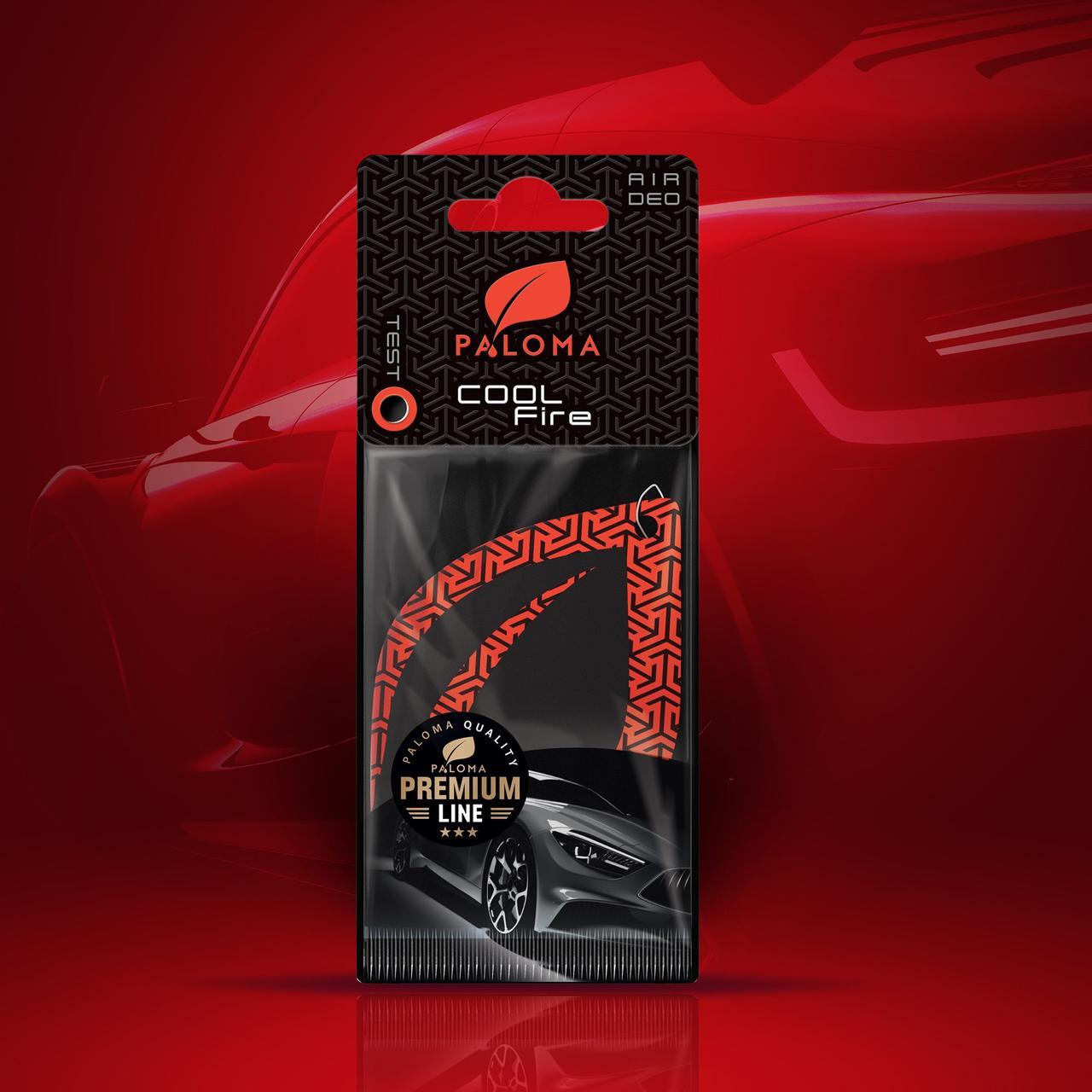 Ароматизатор подвесной листик Premium Paper Cool fire(80) Paloma