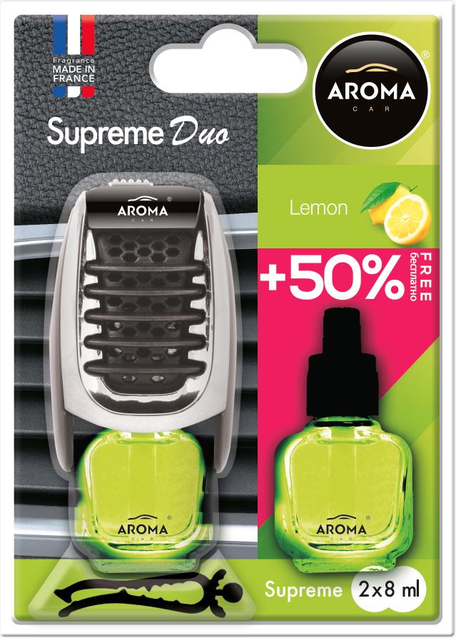 Ароматизатор на дефлектор жидкий Car Supreme DUO Lemon, Aroma