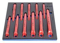 Набор ключей накидных с изгибом односторонних изолированных в SOS-ложементе - 964VDE2 UNIOR