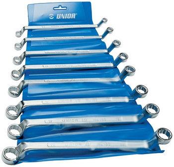 Набор ключей накидных с изгибом в пластиковой сумке - 180/1PB UNIOR