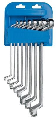 Набор ключей накидных с изгибом в пластиковом подвесе - 180/1PH UNIOR