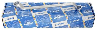 Набор ключей накидных с изгибом (7 предм.) в картонной коробке, 24-46мм UNIOR