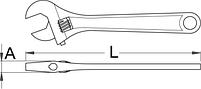 Ключ разводной - 251/4 UNIOR, фото 2