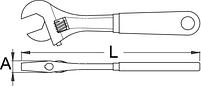 Ключ разводной - 250/1ADP UNIOR, фото 2