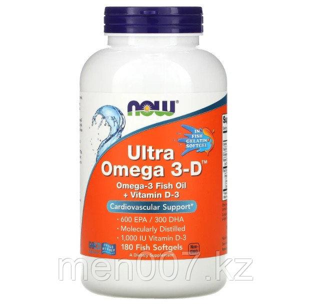 БАД Ультра Омега 3-Д, Ultra Omega 3-D, (180 капсул)