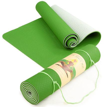 Коврик гимнастический зеленый, фото 2
