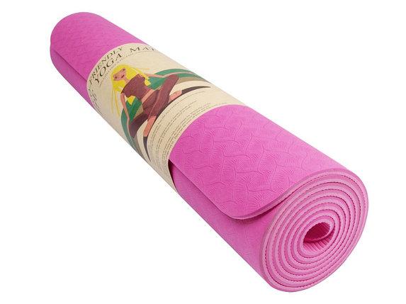 Коврик гимнастический розовый, фото 2