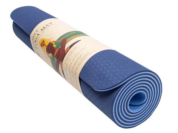 Коврик гимнастический синий, фото 2