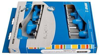Набор ключей шестигранных с Т-образной рукояткой в картонной упаковке - 193HXCS1 UNIOR