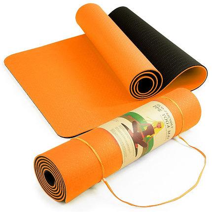 Коврик гимнастический оранжевый, фото 2