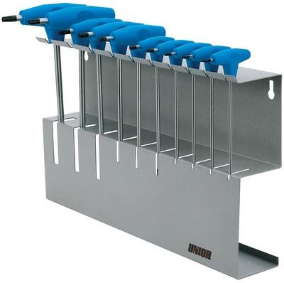 Набор ключей TORX с Т-образной рукояткой в металлическом стенде - 193TXMS UNIOR