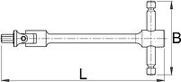 Ключ шестигранный с карданным шарниром с Т-образной рукояткой - 194/2C1 UNIOR, фото 2