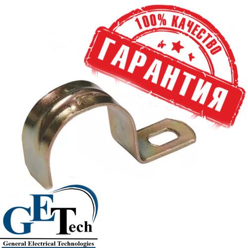 Скоба металлическая 1-лапковаяd 38-40мм (для металkорукава d 32 мм)
