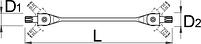 Ключ торцевой с шарнирными головками с профилем TORX - 202/2ATX UNIOR, фото 2