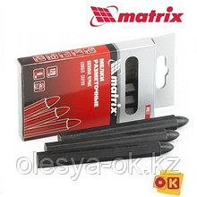 Мелки разметочные восковые черные, 120 мм, коробка 6 шт Matrix