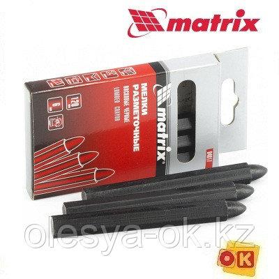 Мелки разметочные восковые черные, 120 мм, коробка 6 шт Matrix, фото 2