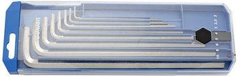 Набор ключей шестигранных удлинённых в пластиковой коробке - 220/3LPB2 UNIOR