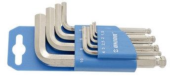 Набор ключей шестигранных с закруглённым жалом в пластиковом подвесе - 220/3SPH UNIOR
