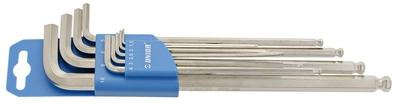 Набор ключей шестигранных удлинённых с закруглённым жалом в пластиковом подвесе - 220/3SLPH UNIOR