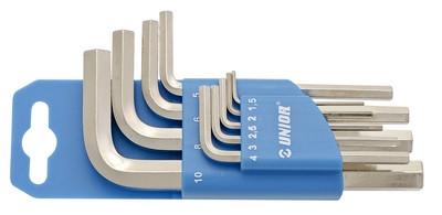 Набор ключей шестигранных на пластиковом подвесе - 220/3PH UNIOR