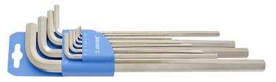 Набор ключей шестигранных удлиненных в пластиковом подвесе - 220/3LPH UNIOR
