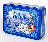 Русское лото в жестяной коробке «Русская зима», фото 1