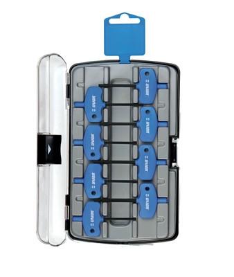 Набор ключей шестигранных с рукояткой, в пластиковом футляре - 221AHXPB3 UNIOR