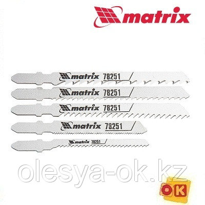 Набор полотен для электролобзика универсальный, 5 шт Matrix Professional