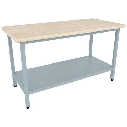 Стол кондитерский  900х700х875(895) мм. (столешница дерево - бук, каркас окрашенный)
