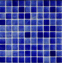 Крупная стеклянная мозаика blue
