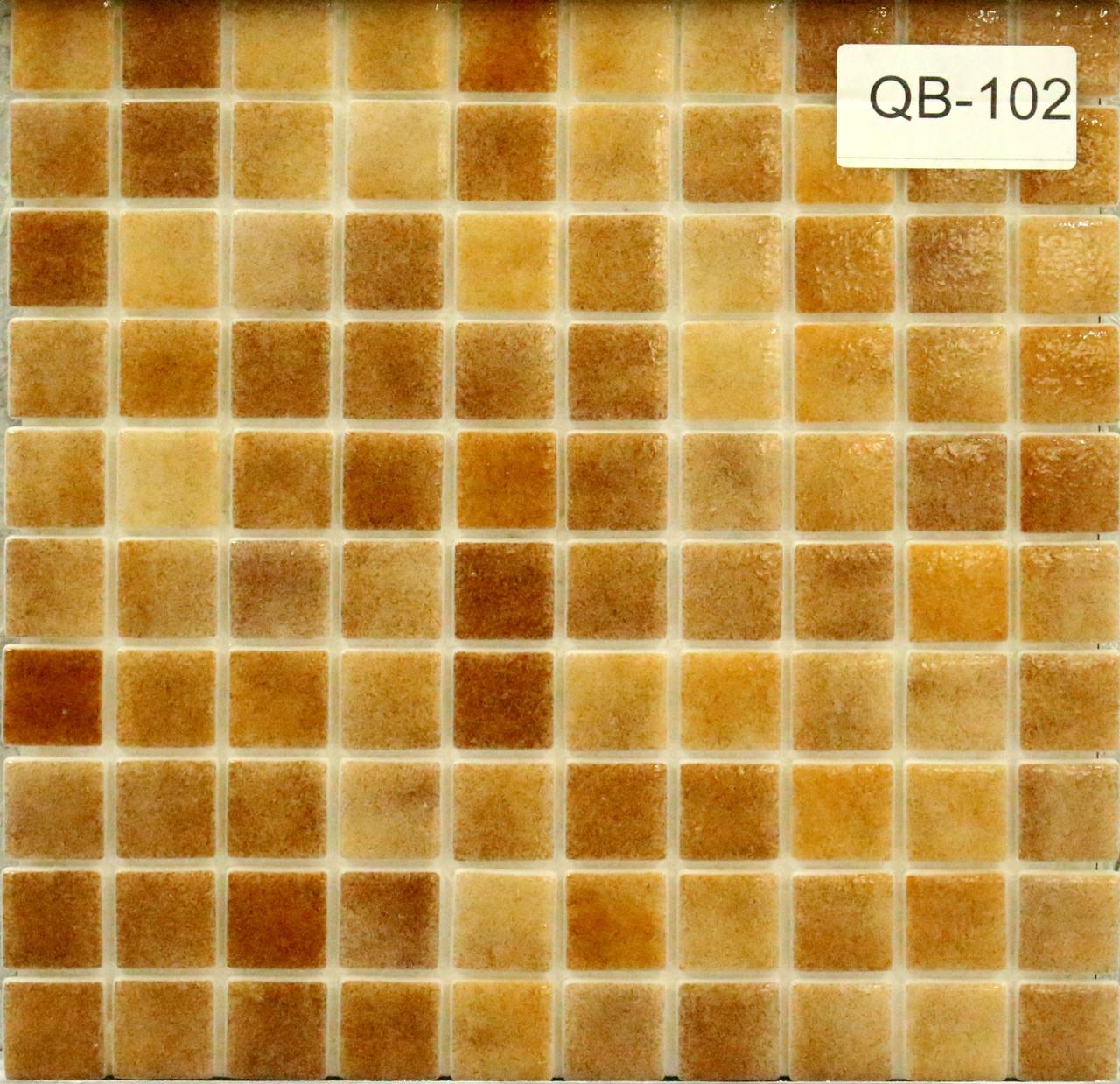 Крупная стеклянная мозаика светло коричневый
