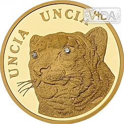 Барс с бриллиантами 500 тенге (Золото 999,9) 7.78гр.